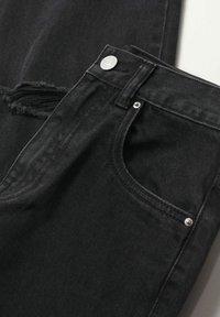 Mango - Jeans Straight Leg - black denim - 2