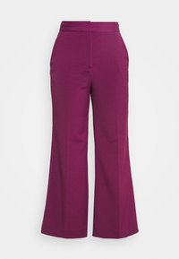 Victoria Victoria Beckham - CROPPED FLARED TROUSER - Trousers - raspberry jam - 6