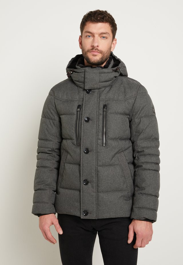 Winter jacket - grey brushed