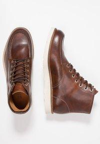 Zign - Lace-up ankle boots - cognac - 1