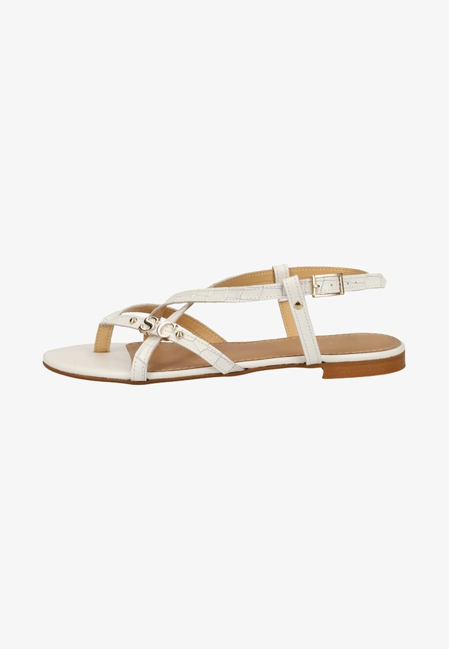 ZEHENSTEG - Sandals - white
