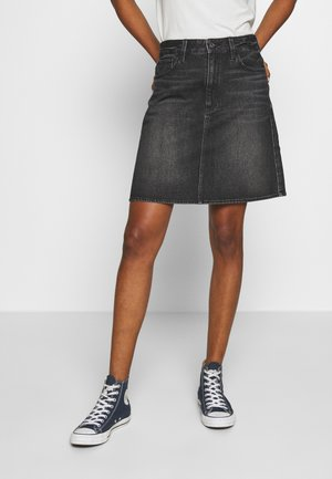 3301  - Denim skirt - black stone