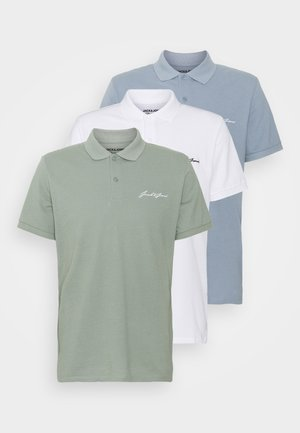 JORJOE 3 PACK - Polo shirt - ashley blue