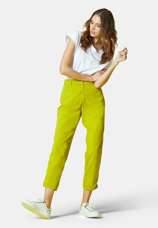 Straight leg jeans - verde acido