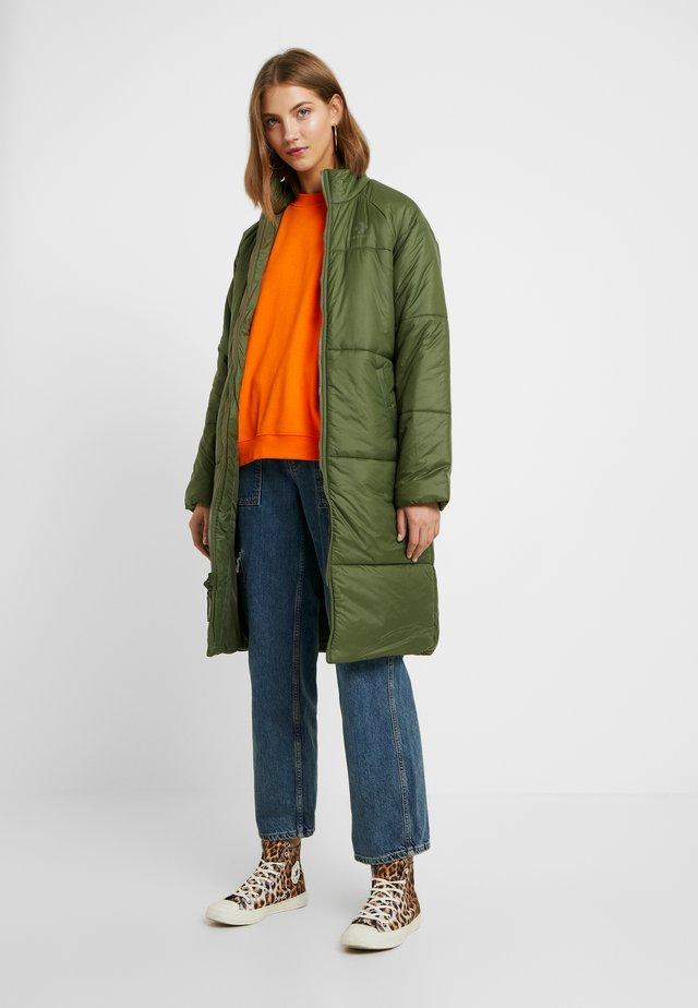 SYNTHETIC LONG JACKET - Winter coat - olive