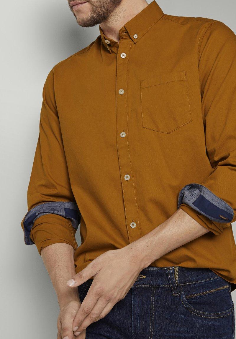 TOM TAILOR Hemd - spicy pumpkin orange/orange nbOl50