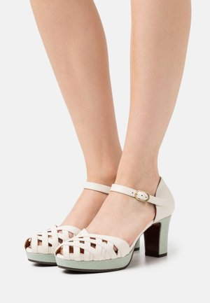 IRMA  - Platform heels - freya rice/ada salvia