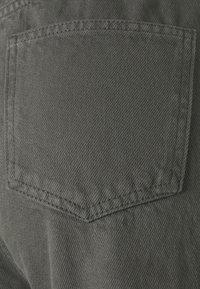 NA-KD Tall - HIGH WAIST RAW HEM - Jeans baggy - dark grey - 2