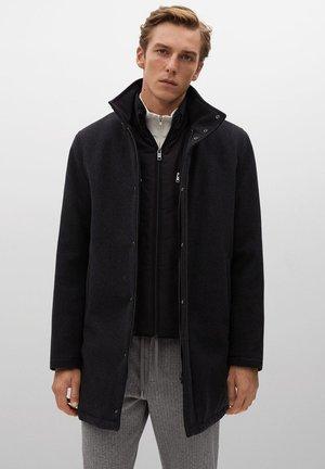 NOBIX-I - Short coat - mörk heather grå