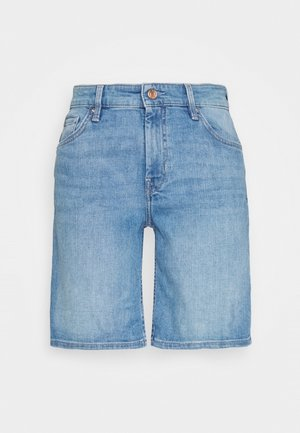 Denim shorts - middle blu