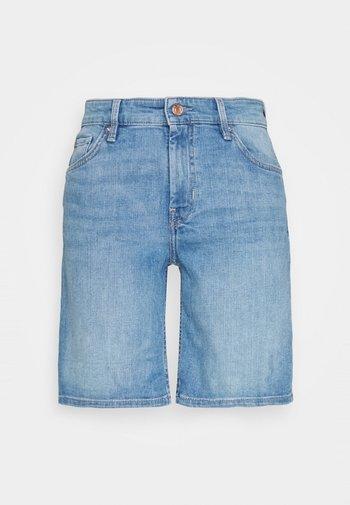 Denim shorts - middle blu