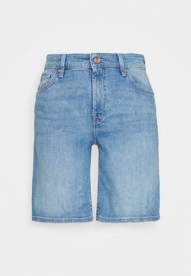 Jeansshort - middle blu