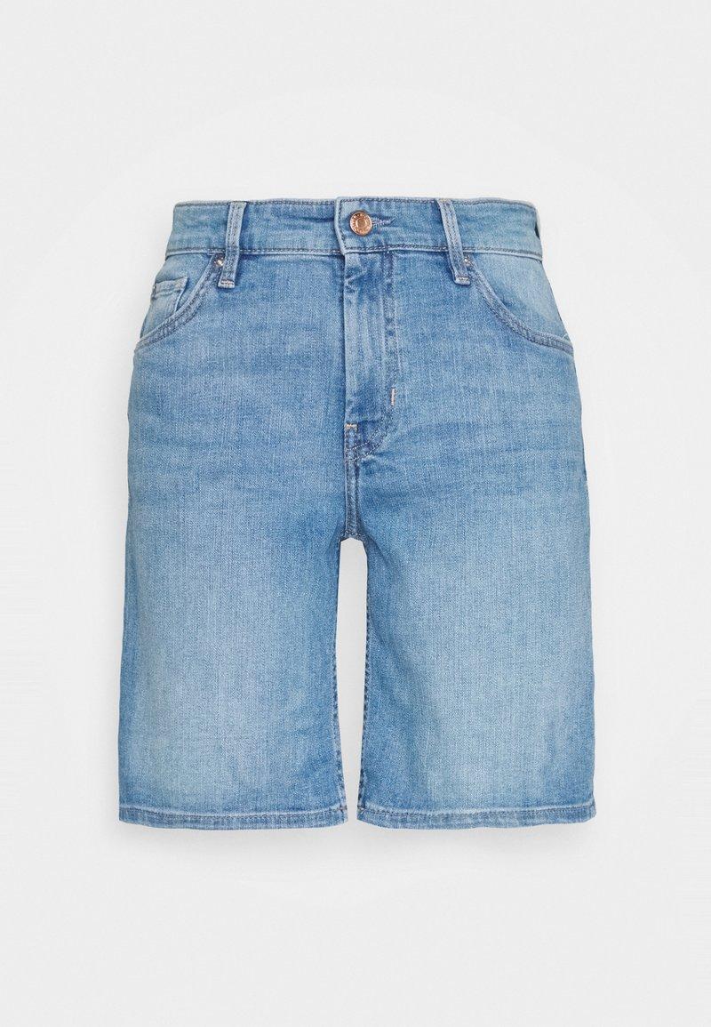 s.Oliver - Denim shorts - middle blu