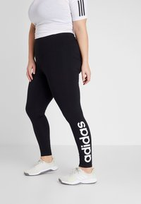 adidas Performance - ESSENTIALS TRAINING SPORTS LEGGINGS - Tights - black/white - 0