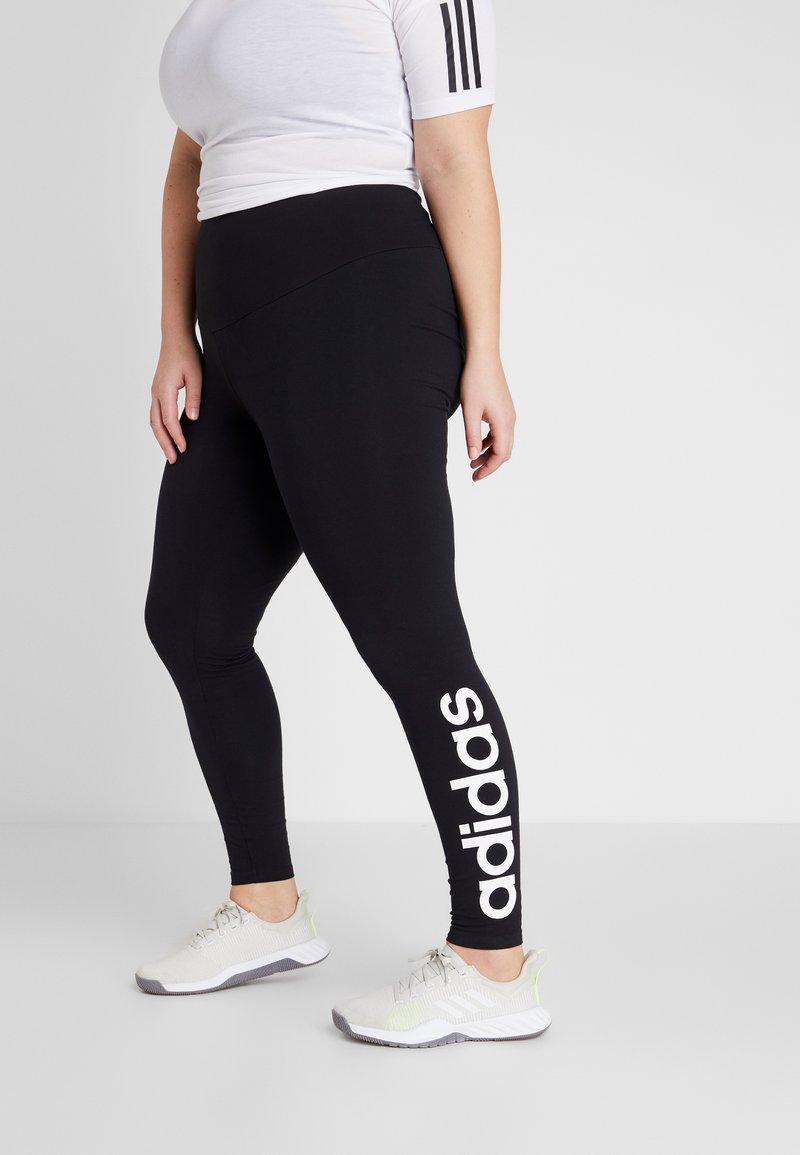 adidas Performance - ESSENTIALS TRAINING SPORTS LEGGINGS - Tights - black/white