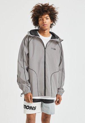 Zip-up hoodie - mottled light grey
