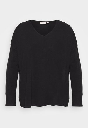 CARAMALIA V NECK - Jumper - black