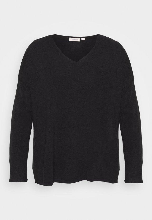 CARAMALIA V NECK - Sweter - black