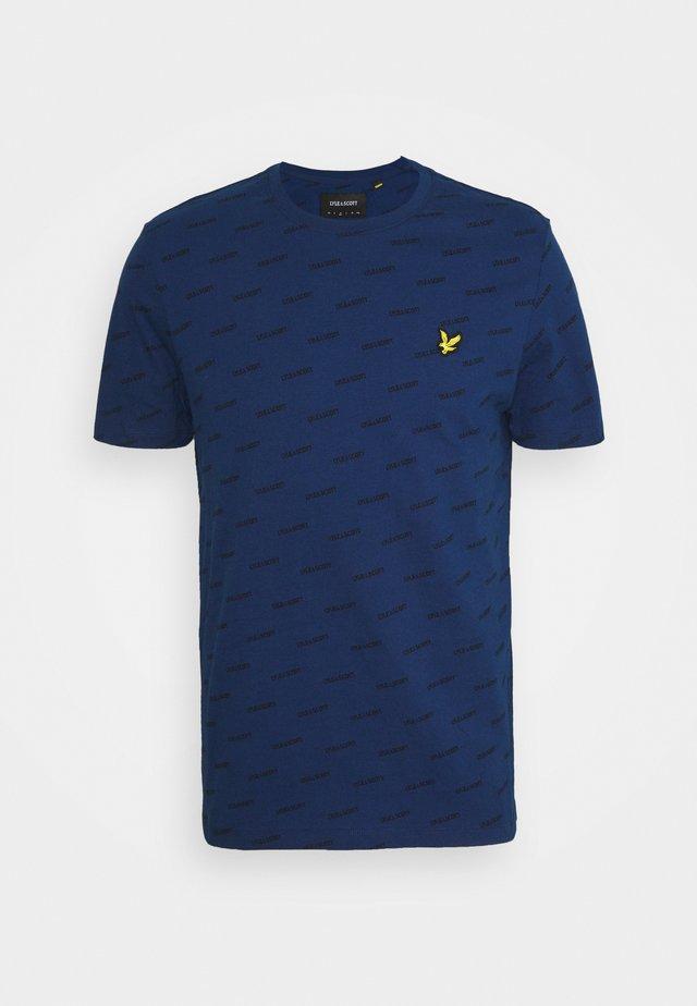 LOGO PRINT - T-shirt print - indigo