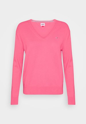 SOFT TOUCH V NECK  - Jumper - glamour pink