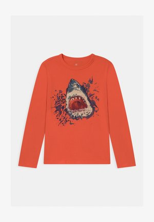 BOY VALUE GRAPHIC - Long sleeved top - fire coral