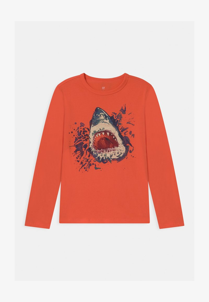 GAP - BOY VALUE GRAPHIC - Long sleeved top - fire coral
