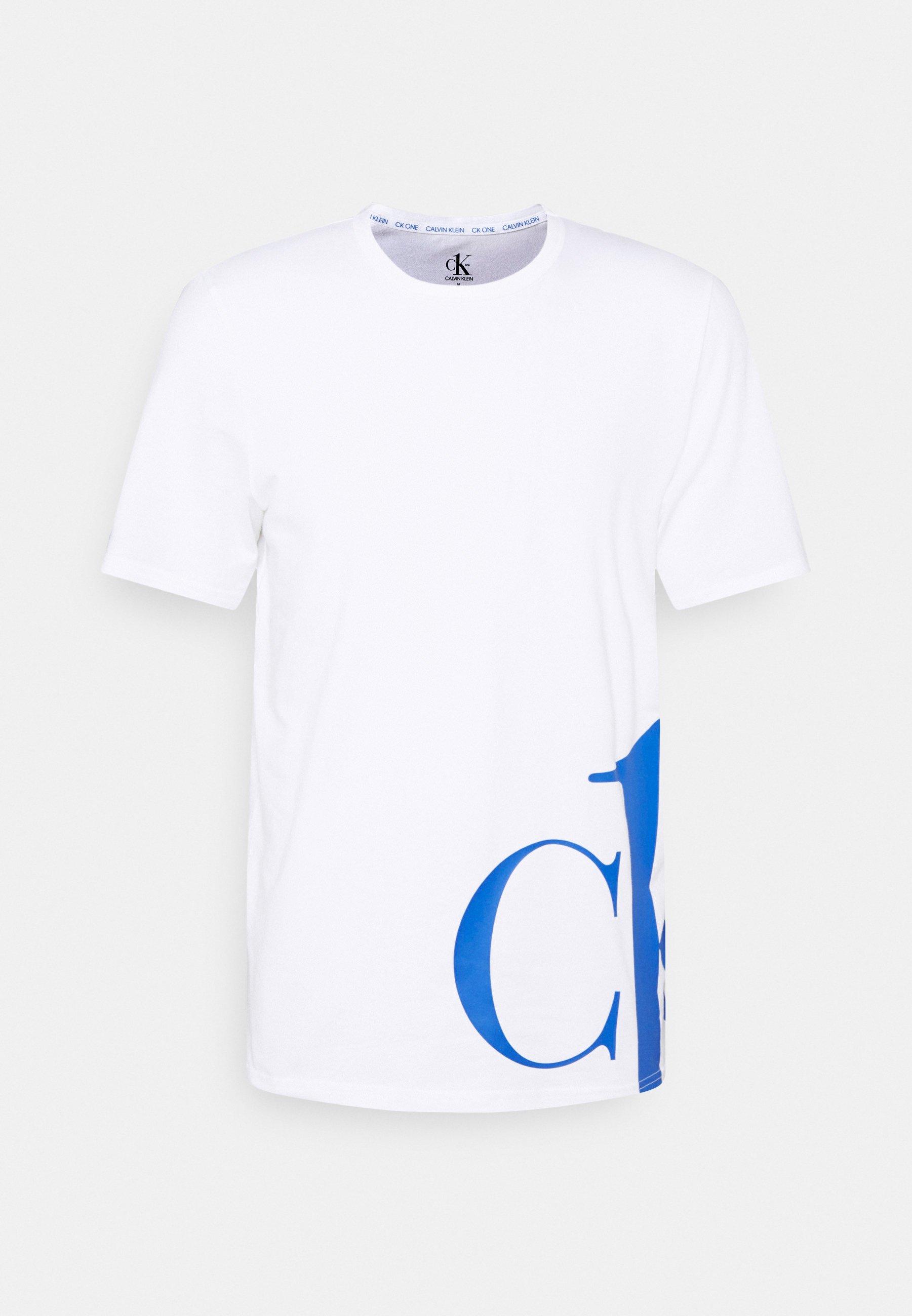 Herren CREW NECK - Nachtwäsche Shirt - white/blue