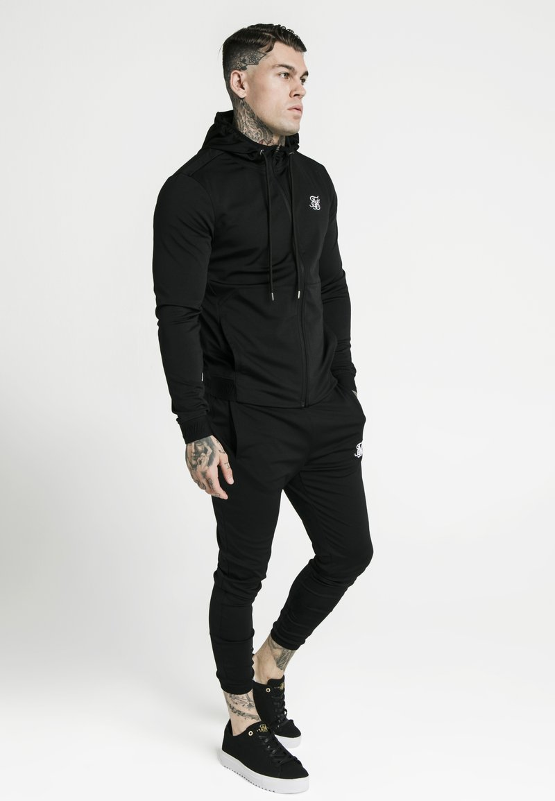 SIKSILK - AGILITY ZIP THROUGH HOODIE - Giacca sportiva - black