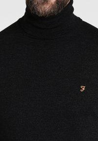 Farah - GOSFORTH ROLL NECK EXTRA  - Stickad tröja - dark asphalt marl - 3