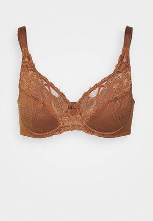 WILD BLOOMS - Underwired bra - dark brown