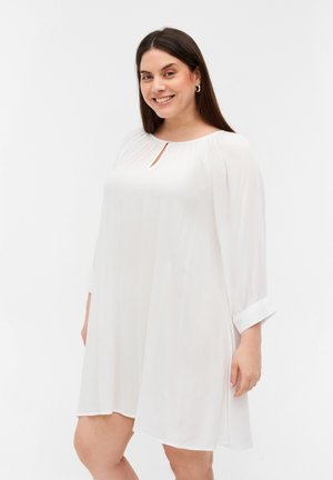 MIT 3/4-ÄRMELN - Tunic - bright white