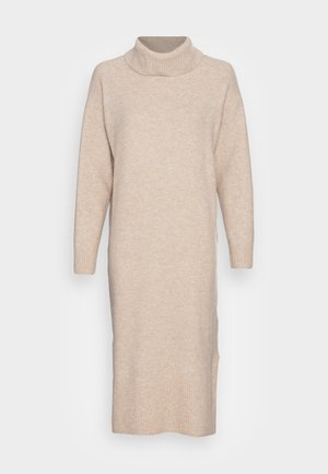 Gebreide jurk - sand