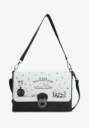 SLEEPING CAT - Across body bag - multicolor