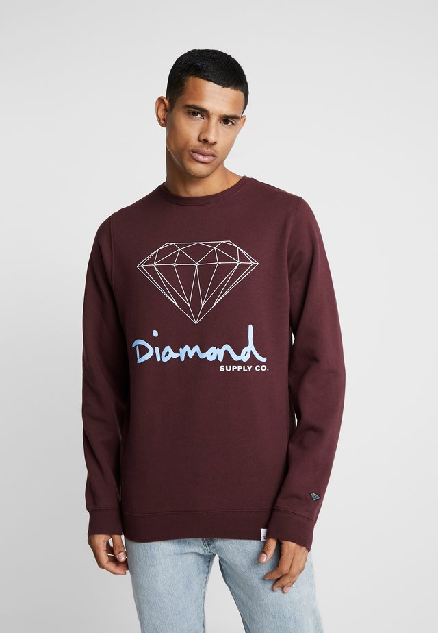 SIGN CREWNECK  - Sweatshirt - burgundy
