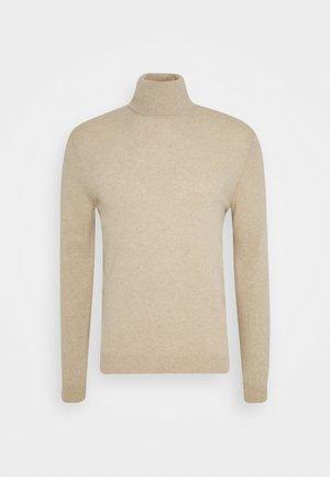 BASIC ROLL NECK - Stickad tröja - light beige