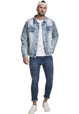 SOUTHPOLE HERREN BIKER TRUCKER JACKET - Denim jacket - blue