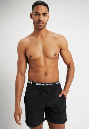 TWO IN ONE SWIM - Shorts da mare - black/white