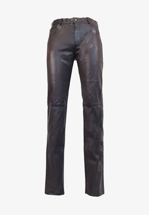 TRANT  - Leather trousers - braun