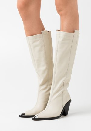 TULIP POINT KNEE - Boots - buttermilk