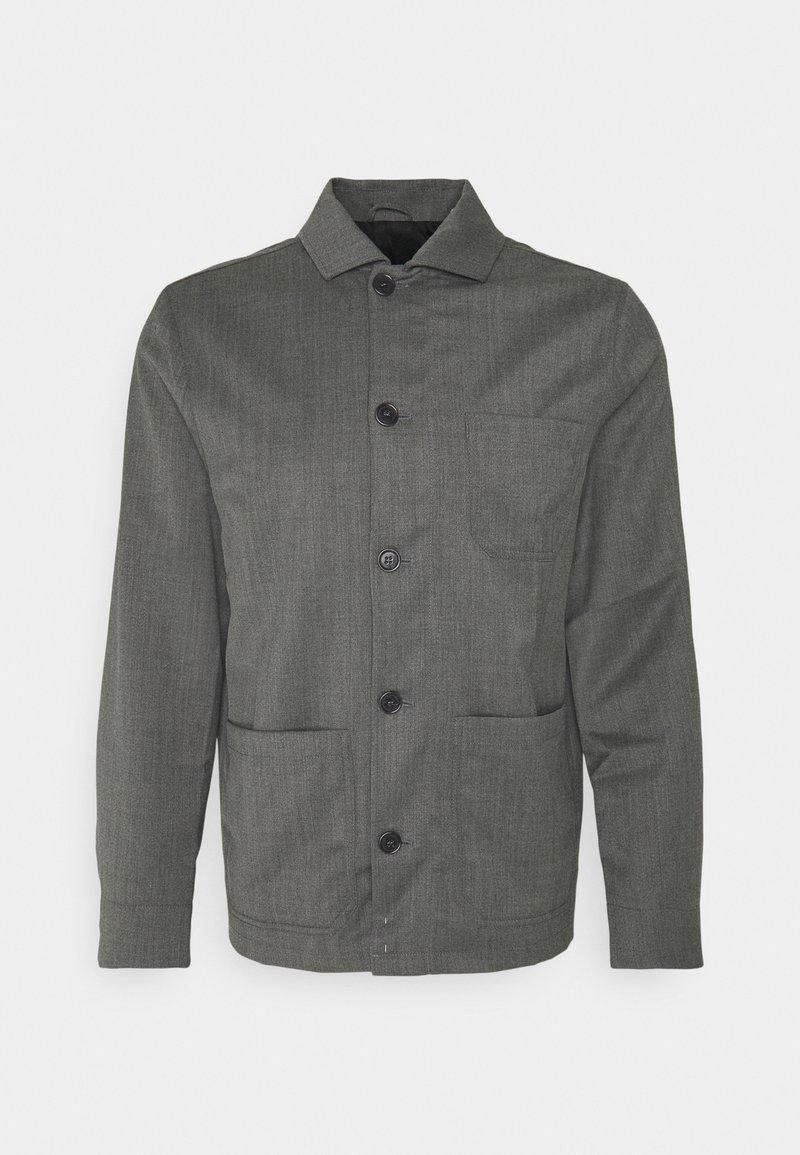 Filippa K - LOUIS GARBADINE - Lehká bunda - grey melange