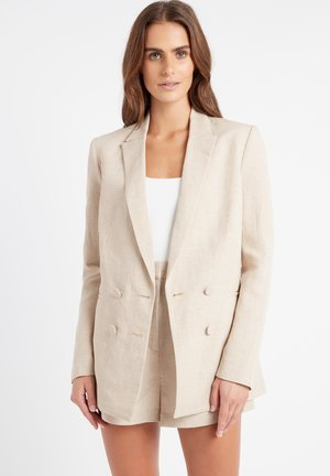 AU GINGHAM - Short coat - ab beige