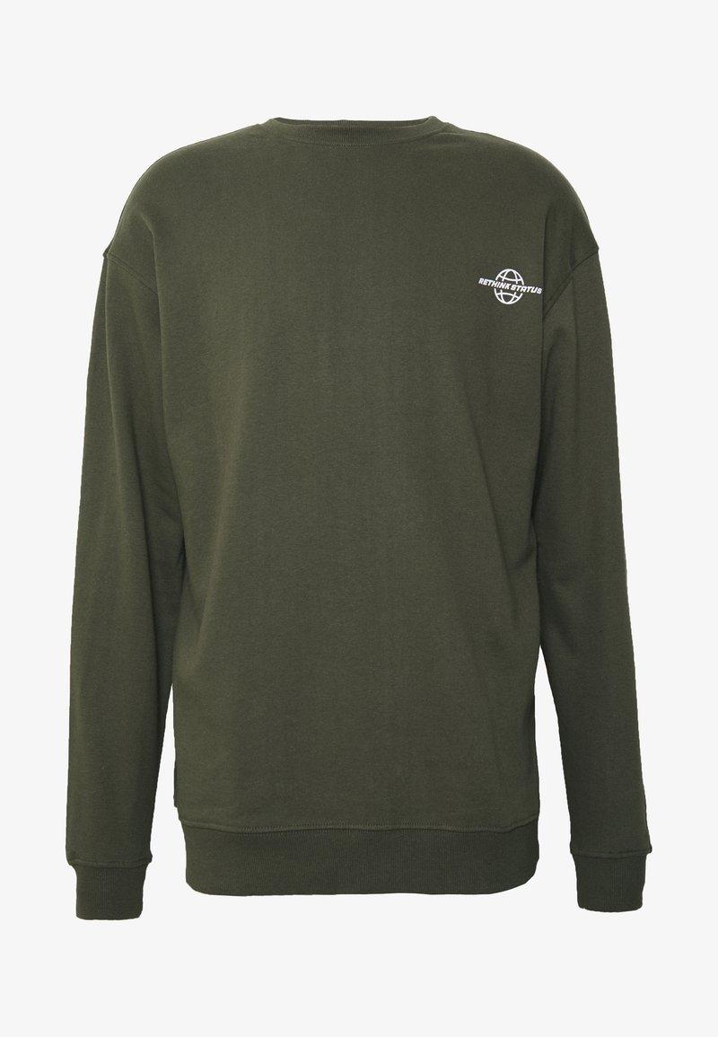 RETHINK Status - CREW NECK - Sudadera - army garment dye