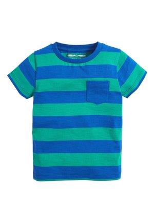 BLUE/GREEN SHORT SLEEVE STRIPE T-SHIRT (3MTHS-7YRS) - Print T-shirt - blue
