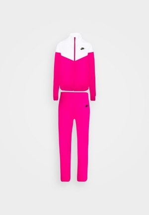 TRACK SUIT SET - Zip-up hoodie - pink glaze/white/black