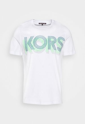OPTICAL TEE - Print T-shirt - white