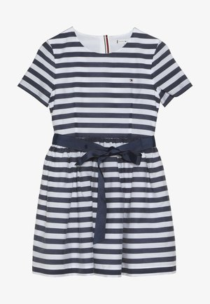 NAUTICAL STRIPE DRESS - Day dress - white