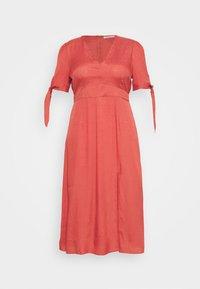 Glamorous Curve - TIE SLEEVE MIDI DRESS - Day dress - faded red - 3