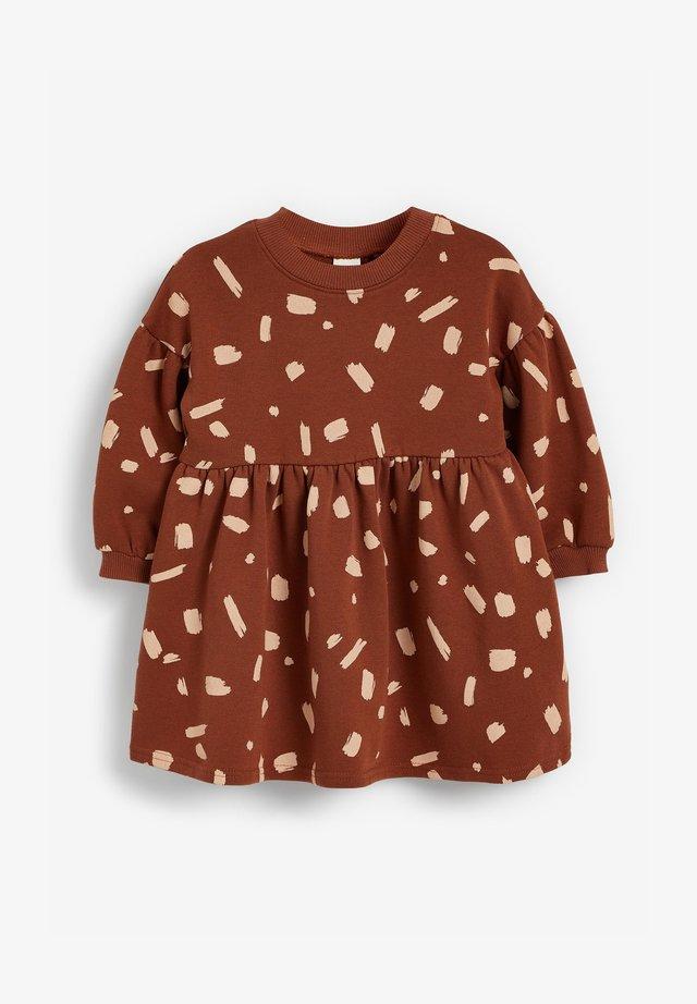 BALLOON SLEEVE - Korte jurk - brown