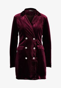 Missguided - LIGHT MAGIC BUTTON BLAZER DRESS - Kjole - burgundy - 4