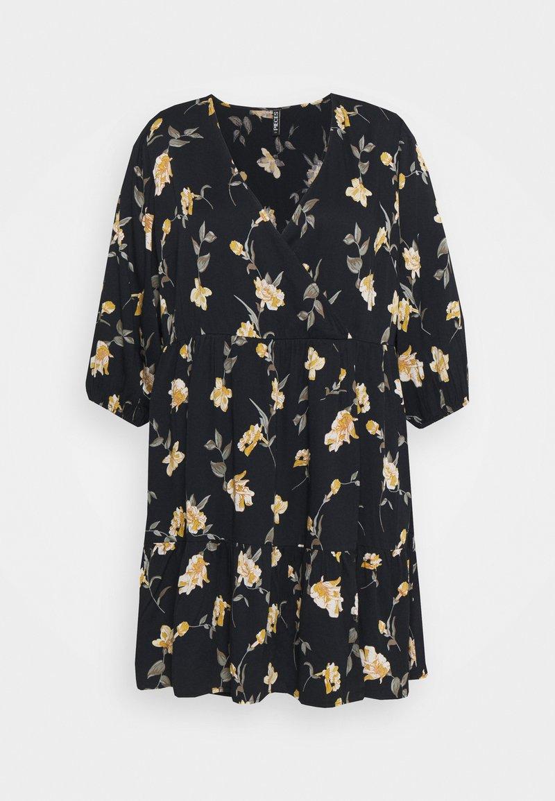Pieces Curve - PCGLYDA WRAP DRESS CURVE - Day dress - black